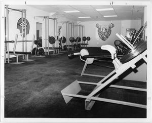 Primary view of object titled '[Weight Room at Fouts Field]'.