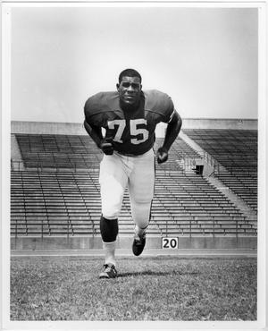 Primary view of object titled '[North Texas Player, Joe Greene, 1967]'.