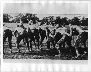 Primary view of object titled '[North Texas Second String Team Plays Durant Normal, 1920]'.