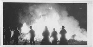 Primary view of object titled '[Big Blaze: North Texas Homecoming bonfire]'.