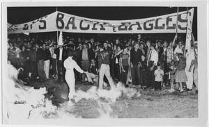 Primary view of object titled '[North Texas Homecoming bonfire, 1960]'.