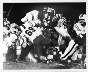 Primary view of object titled '[North Texas Football Game, late 1960s]'.