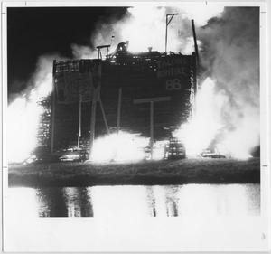Primary view of object titled '[North Texas 1988 Homecoming bonfire]'.