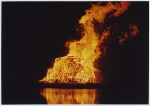 Primary view of object titled '[North Texas 1993 Homecoming bonfire]'.