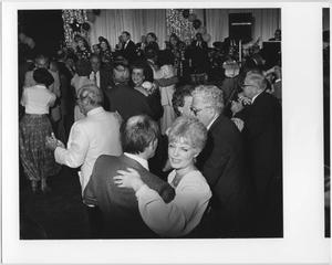 Primary view of object titled '[Couples dancing at North Texas Homecoming Dance, 1987]'.