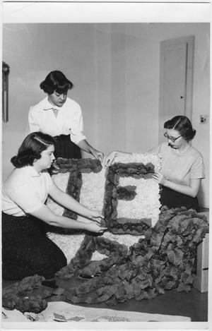 Primary view of object titled '[North Texas Homecoming Decorations, 1954]'.