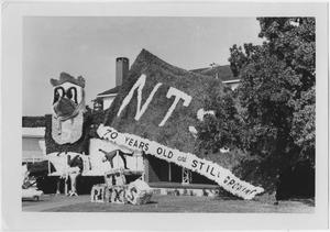 Primary view of object titled '[Fraternity house decoration contest winner, North Texas Homecoming, c. 1960]'.
