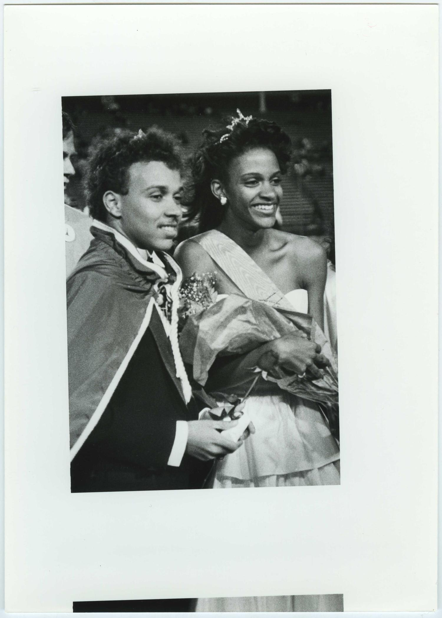 [North Texas Homecoming King and Queen, 1987]                                                                                                      [Sequence #]: 1 of 2