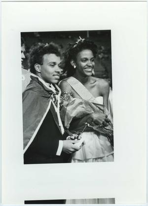 Primary view of object titled '[North Texas Homecoming King and Queen, 1987]'.