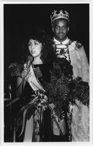 Primary view of object titled '[North Texas Homecoming King and Queen, 1988]'.