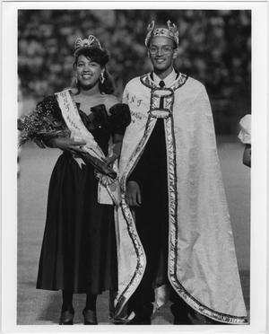 Primary view of object titled '[North Texas Homecoming King and Queen, 1989]'.