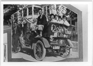 Primary view of object titled '[Early Photo of North Texas Homecoming Parade]'.