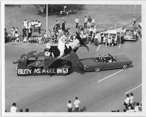 Primary view of object titled '[Photo of North Texas Homecoming Parade, 1963]'.