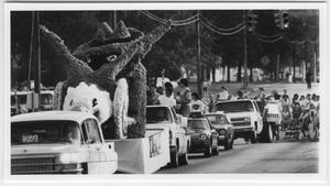 Primary view of object titled '[Photo of North Texas Homecoming Parade, 1983]'.