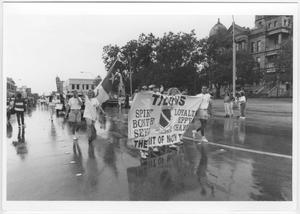 Primary view of object titled '[Photo of North Texas Homecoming Parade]'.