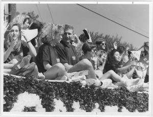 Primary view of object titled '[Photo of North Texas Homecoming Parade, 1993]'.
