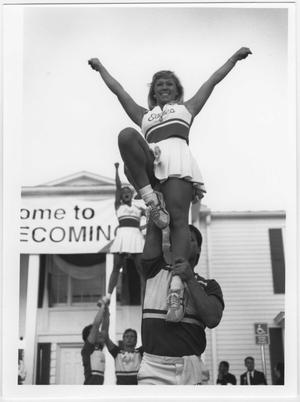 Primary view of object titled '[Photo of UNT Homecoming Festivities]'.