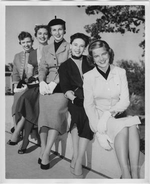 Primary view of object titled '[1954 North Texas Homecoming Queen candidates #2]'.