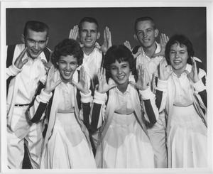 Primary view of object titled '[North Texas State College Cheerleaders, 1960]'.