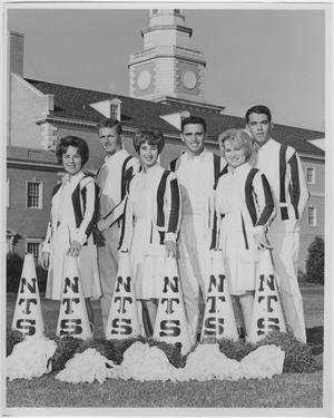 Primary view of object titled '[North Texas State University Cheerleaders, 1962]'.
