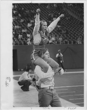 Primary view of object titled '[North Texas State University Cheerleaders, 1970s]'.