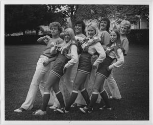 Primary view of object titled '[North Texas State University Cheerleaders, 1973-74]'.