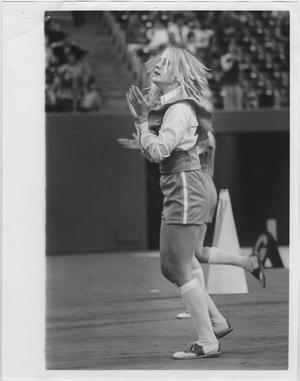 Primary view of object titled '[North Texas State University Cheerleader, 1970s]'.