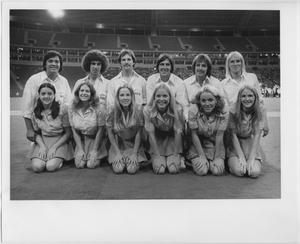 Primary view of object titled '[North Texas State University Cheerleaders, 1975]'.