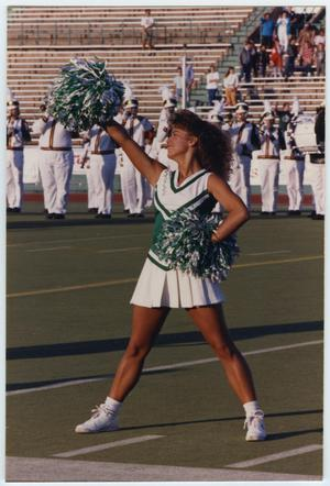 Primary view of object titled '[North Texas State University Cheerleader]'.