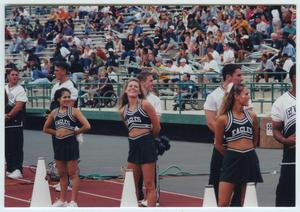 Primary view of object titled '[University of North Texas  Cheerleaders, 2001 ]'.