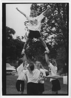 Primary view of object titled '[University of North Texas Cheerleader Camp]'.
