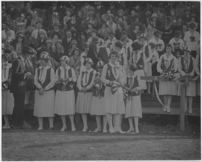 North Texas Green Jackets at Athletic Event, 1926] - Digital Library