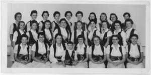 Primary view of object titled '[Group Photo of the North Texas Green Jackets, 1958]'.