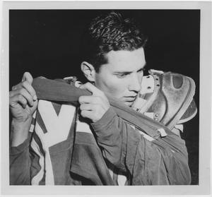Primary view of object titled '[North Texas Football Player, John Talley]'.