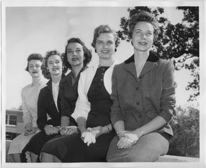 Primary view of object titled '[1956 North Texas Relay Queen candidates #2]'.