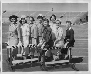 Primary view of object titled '[1959 North Texas Relay Queen candidates at Fouts Field]'.