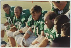 Primary view of object titled '[North Texas Eagles during the Homecoming Game, 1992]'.