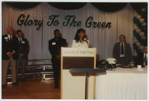 Primary view of object titled '[North Texas Homecoming Reception, 1992]'.