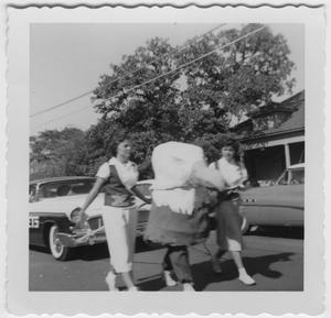 Primary view of object titled '[1955 North Texas State College Homecoming Parade]'.