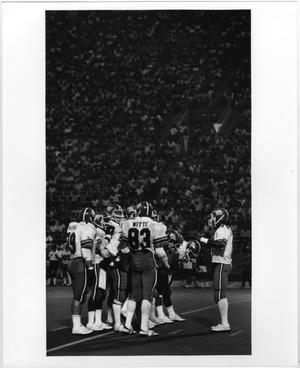 Primary view of object titled '[NTSU Eagles in the Huddle]'.