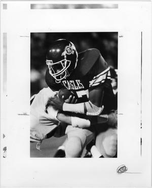 Primary view of object titled '[North Texas Eagle is Tackled]'.