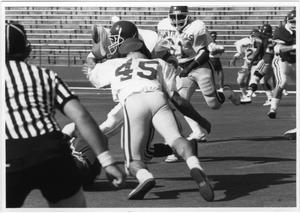 Primary view of object titled '[North Texas Football Action]'.