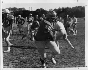 Primary view of object titled '[North Texas Football Players Practice]'.