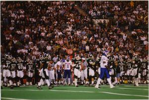 Primary view of object titled '[North Texas Football Players and Spectators]'.