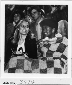 Primary view of object titled '[North Texas Football Spectators, Homecoming, 1980]'.