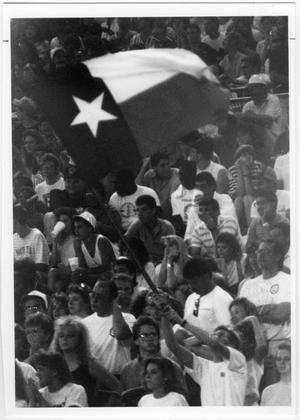 Primary view of object titled '[North Texas Football Spectators, 1988]'.