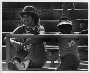 Primary view of object titled '[North Texas Football Spectators, 1980s]'.