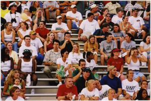 Primary view of object titled '[North Texas Football Spectators, 1998]'.