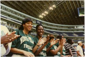 Primary view of object titled '[North Texas Football Spectators, 1995]'.