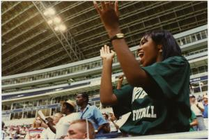 Primary view of object titled '[North Texas Football Fans, 1995]'.